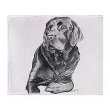 Black Lab Throw Blanket
