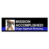 Mission Accomplished sticker - Boxer