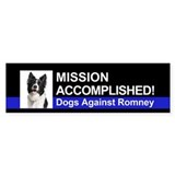 Mission Accomplished sticker - Border Collie