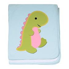 Dinosaur Print baby blanket