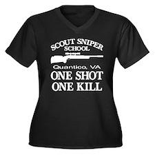 Scout-Sniper School Women's Plus Size V-Neck Dark
