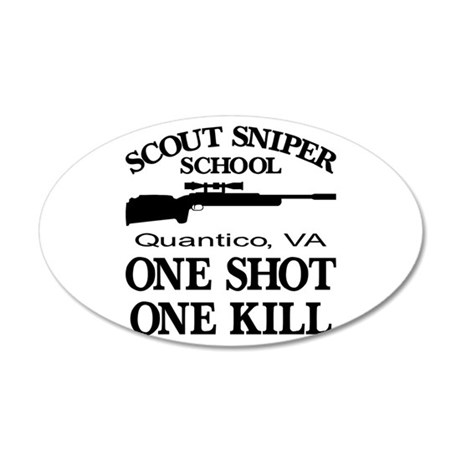 Scout-Sniper School 35x21 Oval Wall Decal