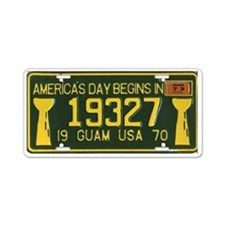 1970 Guam License Plate (w/1973 Sticker)