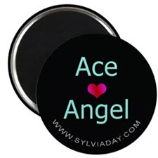 "Ace [heart] Angel 2.25"" Magnet (100 pack)"