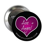 "Ace + Angel [heart] 2.25"" Button"