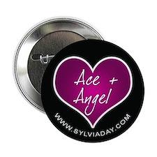 "Ace + Angel [heart] 2.25"" Button"