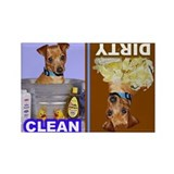 MinPin (Red, Nat Ears) Rectangle Magnet (10 pack)