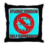 Dress Codes Suck! Throw Pillow