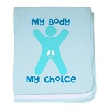 My Body My Choice baby blanket