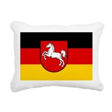 Flag of Lower Saxony Rectangular Canvas Pillow