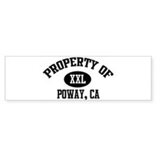 Property of POWAY Bumper Bumper Sticker