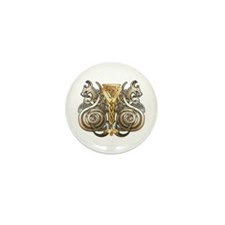 Norse Valknut Dragons Mini Button (100 pack)