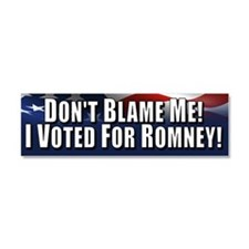 Don't Blame Me Car Magnet 10 x 3