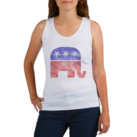 Faded Republican Elephant Tank Top