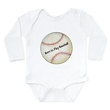Baseball Long Sleeve Infant Bodysuit