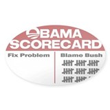 Obama Scorecard Rectangle Decal