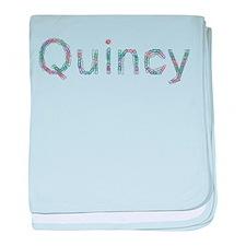 Quincy Paper Clips baby blanket