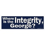 Where is the Integrity? Bumper Sticker