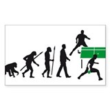 evolution table tennis player Decal