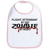 Flight Attendant Zombie Bib