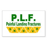 Painful Landing Fractures Rectangle Decal
