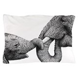 African Elephants Pillow Case