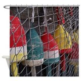Netted Lobster Buoys Shower Curtain