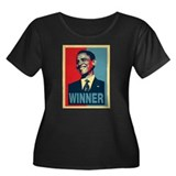 Barack Obama Winner Women's Plus Size Scoop Neck D