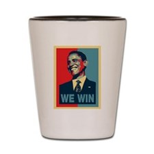 Barack Obama We Win Shot Glass