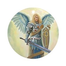 St. Angel Michael Ornament (Round)