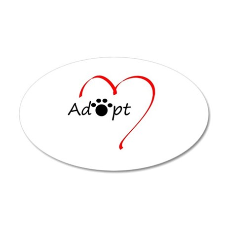 Adopt 20x12 Oval Wall Decal