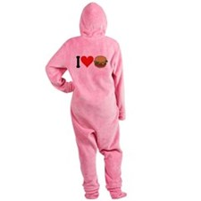 3-ilovehamburgersblk.png Footed Pajamas