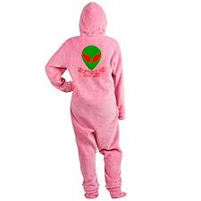 3-abductedbyaliensshirt.png Footed Pajamas