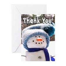 Cute Handmade Snowman Greeting Cards (Pk of 20)