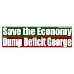 Dump Deficit George Bumper Sticker