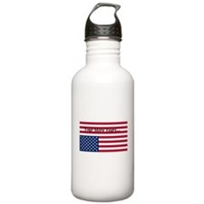 Four More Years of Obama - distress flag Water Bottle
