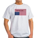 Four More Years of Obama - distress flag T-Shirt