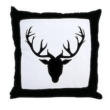 Deer antlers Throw Pillow