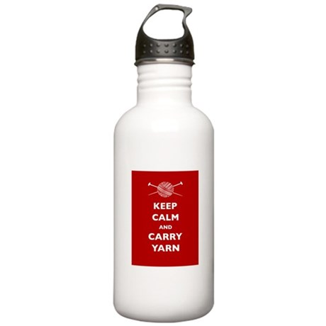 Keep Calm Carry Yarn Stainless Water Bottle 1.0L