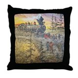 Connecting America Throw Pillow