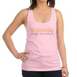 Running - Cheaper Than Therapy Racerback Tank Top