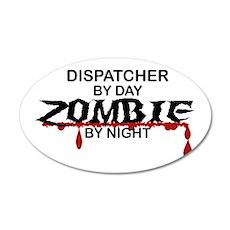 Dispatcher Zombie 35x21 Oval Wall Decal