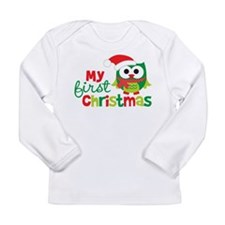 My First Christmas Owl Long Sleeve T-Shirt