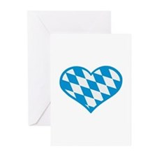 Bavaria flag heart Greeting Cards (Pk of 20)