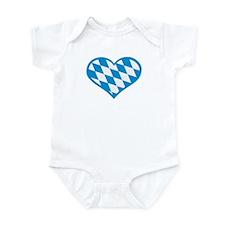 Bavaria flag heart Infant Bodysuit