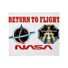 Return To Flight Throw Blanket