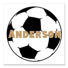 "Personalized Soccer Square Car Magnet 3"" x 3"""
