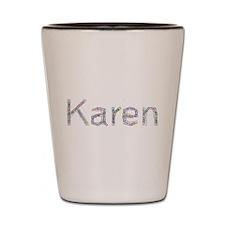 Karen Paper Clips Shot Glass