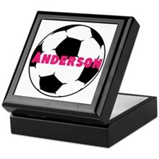 Personalized Soccer Keepsake Box
