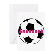 Personalized Soccer Greeting Card